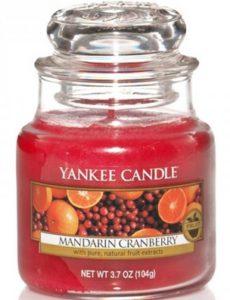 Kerze Mandarine, Moosbeere