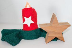 Kerze mit kleinen Stern